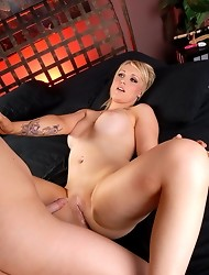 Horny transsexual Sarina banging a hot babe