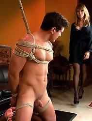 HOT debut of Ts Estelle LaMore- she fucks like a pro in her FIRST shoot - total domination, orgasm denial, hardcore cock sucking & fucking of her
