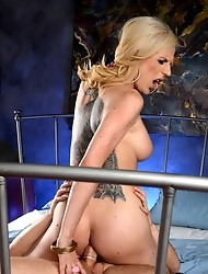 Cute TS Juliette having crazy sex with Wolfe