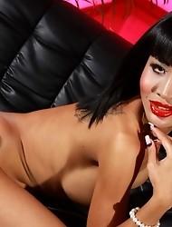 Amazing TS Tanya posing her big stiff cock