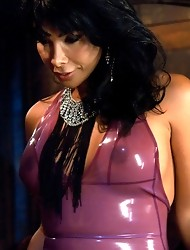 Ts Vaniity cum swamps, face fucks, ass smothers her bound slave. He eats her cum, gets ass fucked and takes a full throttle face banging from her.