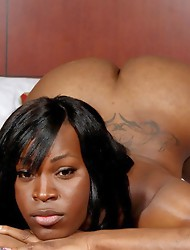 Sexy black T-girl with a great ass!