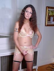Gorgeous Nicole Montero posing in sexy stockings
