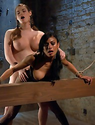 Switch play - TS babe in bondage, hardcore fucking, teasing, milking & ass & pussy fucking & cocksucking with mega-hottie Beretta and TS T