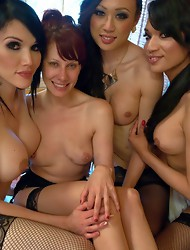 Feature: TS ON TS ORGY GANG BANG of the powerful Femme Fatal - Maitresse Madeline. Double Vag, multiple cum shots, hard ts cock making Madeline SUBMIT