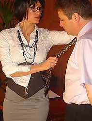 Sissy boy gets dressed up like a slutty TGirl and then spanked nice and hard before getting fucked.