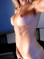 Julia Reeds Stripping & Playing With Her Dick