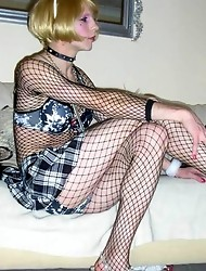 Hot and horny crossdressers wearing lingerie
