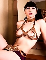 Irresistible transsexual Bailey Jay posing