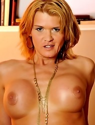 Busty Cutie Astrid Showing Her Bouncing Titties