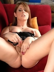 Cute TS Amy Daly toying and jerking off her huge dick