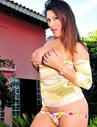 Patricia Bismark gets nude in the garden