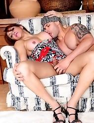 Horny transsexual Ivana banging Tony rough and hard