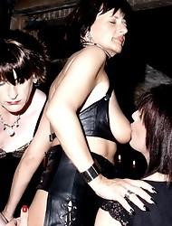 Crossdressing sluts have filthy bondage orgy