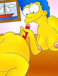 Orgasmic fun with shemales from The Simpsons