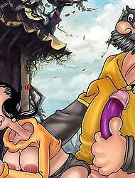 Popeye and his worst foe fucking shemales