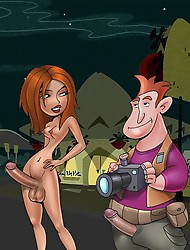 Kim Possible`s shemale sex adventures at full swing
