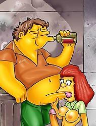 Shocking transsexual Simpsons porn