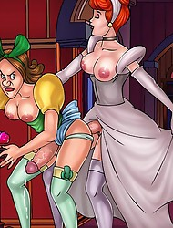 Explicit futanari version of Cinderella