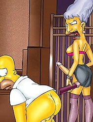 Shemales porking Homer Simpson